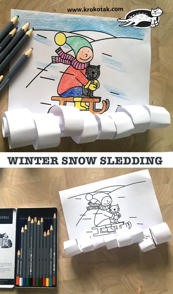 WINTER SNOW SLEDDING (krokotak)