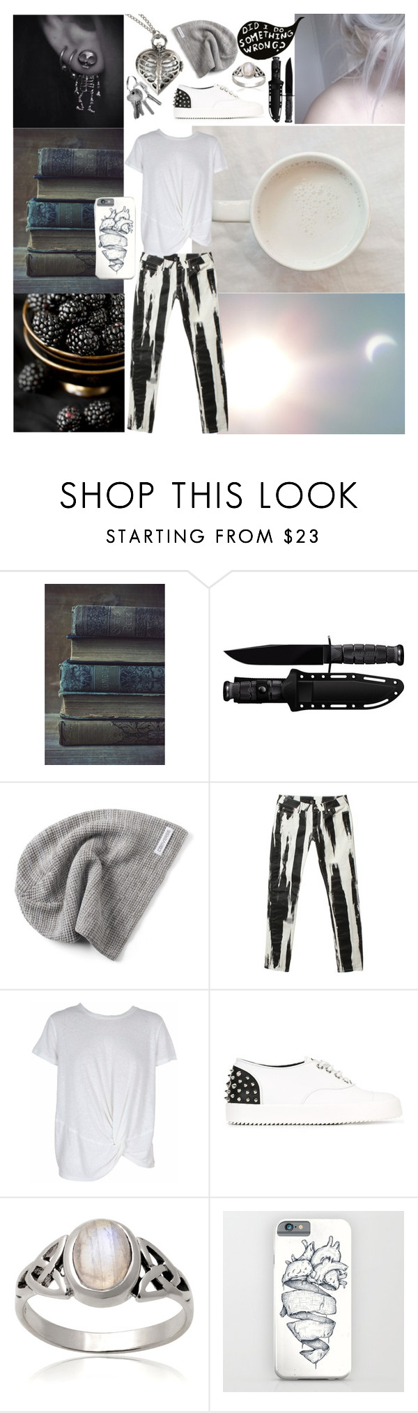 """Shock"" by sophia-pawz ❤ liked on Polyvore featuring Cold Steel, Converse, WALL, Alexander McQueen, MINKPINK, Giuseppe Zanotti, Journee Collection, white, black and blackandwhite"