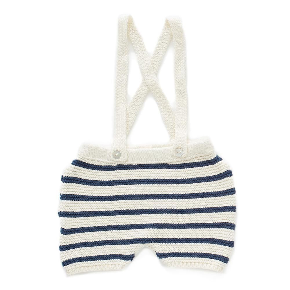 c7ba49bd0812 Striped shorts-white dark navy stripes