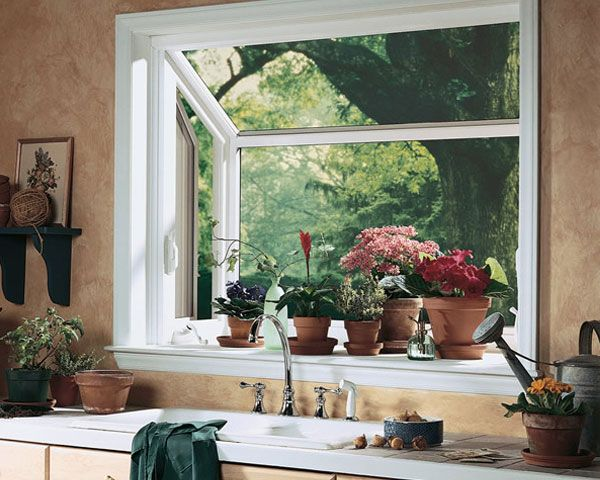 Grown Herbs On Back Smaller Bay Window Have A Window That Sticks - Bay window kitchen