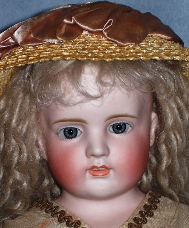 Marked 152, probably Kling, open/closed mouth German lady, Antique Doll SOLD from Faraway Antique Shop http://farawayantiqueshop.com
