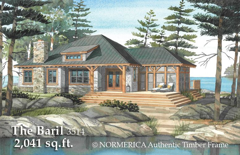 The Baril A Timber Frame Cottage Timber Frame Hq Cottage Plan Lake House Plans Small Cottage House Plans