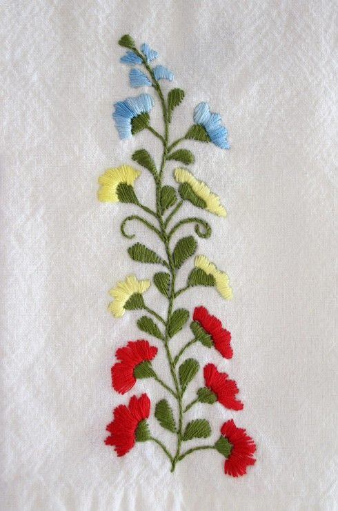 Mexican Floral Embroidery Pattern Detail 2 Brittany Pinterest