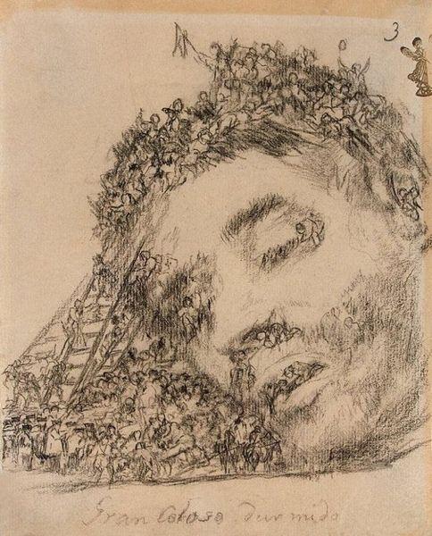 """Francisco de Goya (1746-1828) """" Gran Coloso Durmiendo"""" State Hermitage Museum, St.Petersburg."""