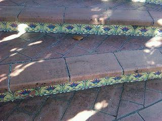Bon Garden Steps In Terracotta, Bricks And Decorative Tiles