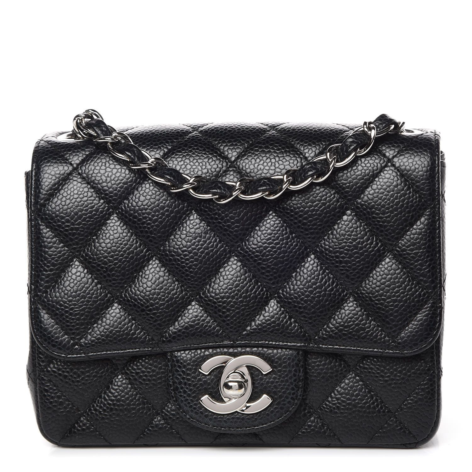 Chanel Caviar Quilted Mini Square Flap Black Chanel Mini Square Chanel Mini Flap Bag Chanel Mini Flap Black