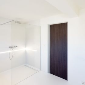 Moderne binnendeur met Wengé afwerking