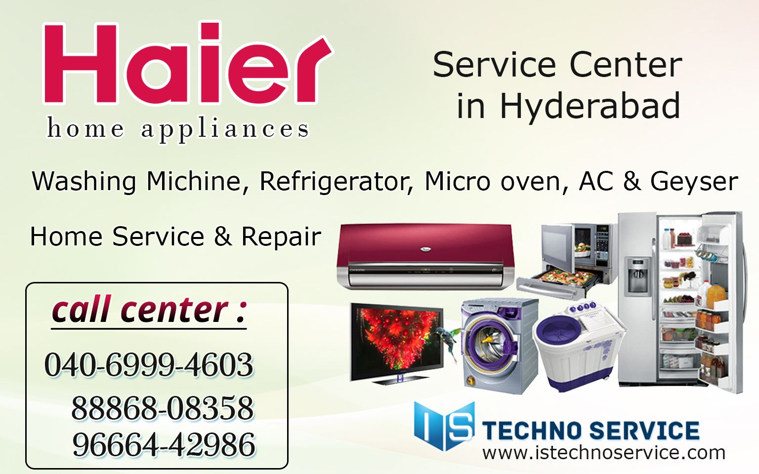 Digital Electronic offers Haier Refrigerator Service