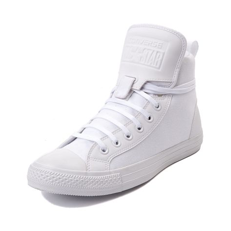 Shop for Converse Chuck Taylor Guard Hi Sneaker, White Monochrome, at  Journeys Shoes. The original Old School learns some new tricks in this  Journeys ... 6c5f5e7eb59