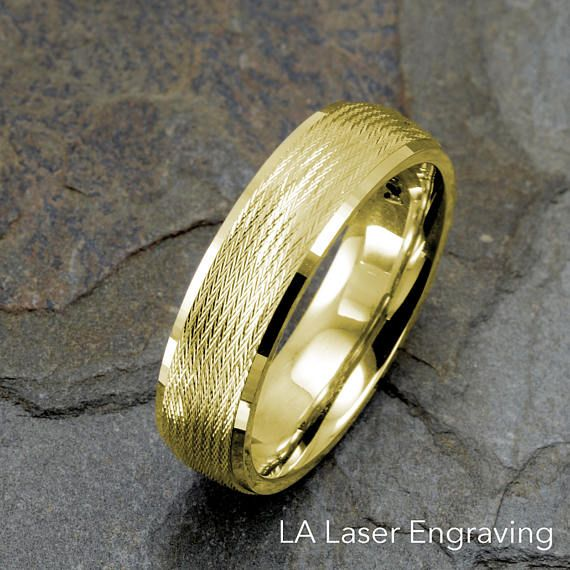 14k Solid Gold Ring Mens Wedding Band Wedding Ring White Etsy Rings Mens Wedding Bands Rings For Men 14k Yellow Gold Wedding Band