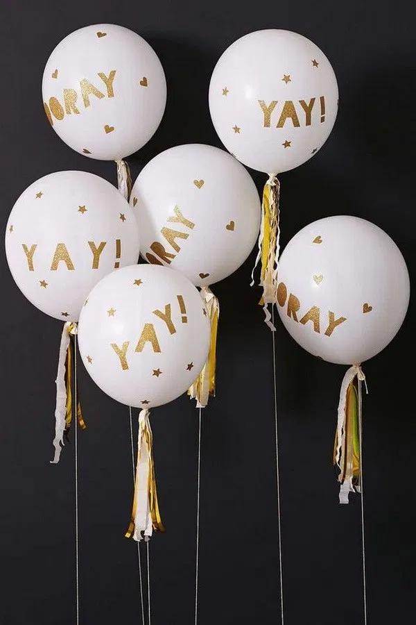 50 Pretty Balloon Decoration Ideas Dress Designs Newyear Newcollection Art Homedecor Diy Teenager Teenagerp Glitter Balloons Party Balloons Party Kit
