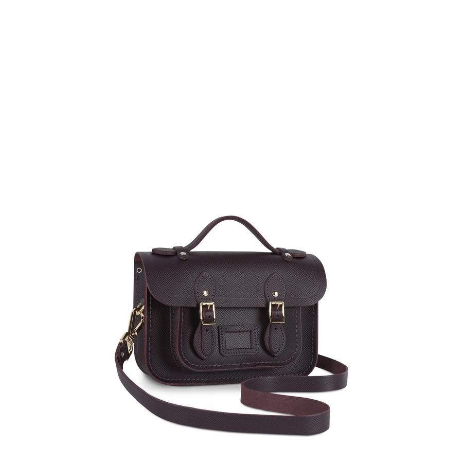 Magnetic Mini Satchel in Leather - Juniper Saffiano   W I S H ... 8a404844e6