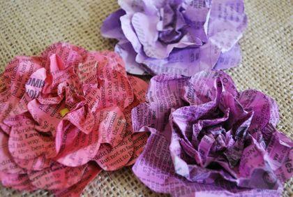 Flores de periódico reciclado - Taringa!