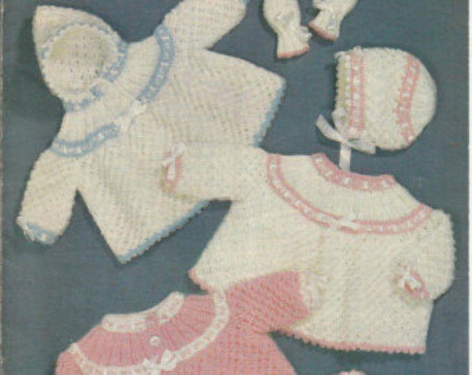 PDF Sirdar Knitting Pattern #260, 8ply/DK, Birth - 6months, Jacket ...