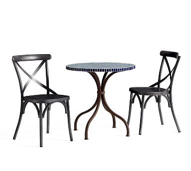 Havana Tile Top Bistro Table 2 X Back Chairs