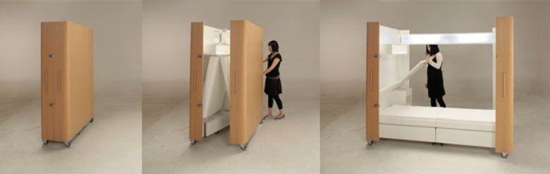 Fold Away Furniture kenchikukagu foldable rooms | room, interiors and room kitchen