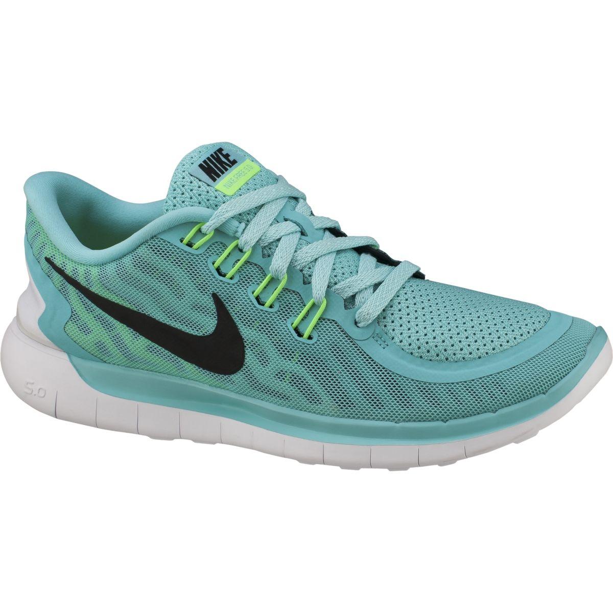 Nike Women's Free 5.0 2015 Running Shoes Teal/Black