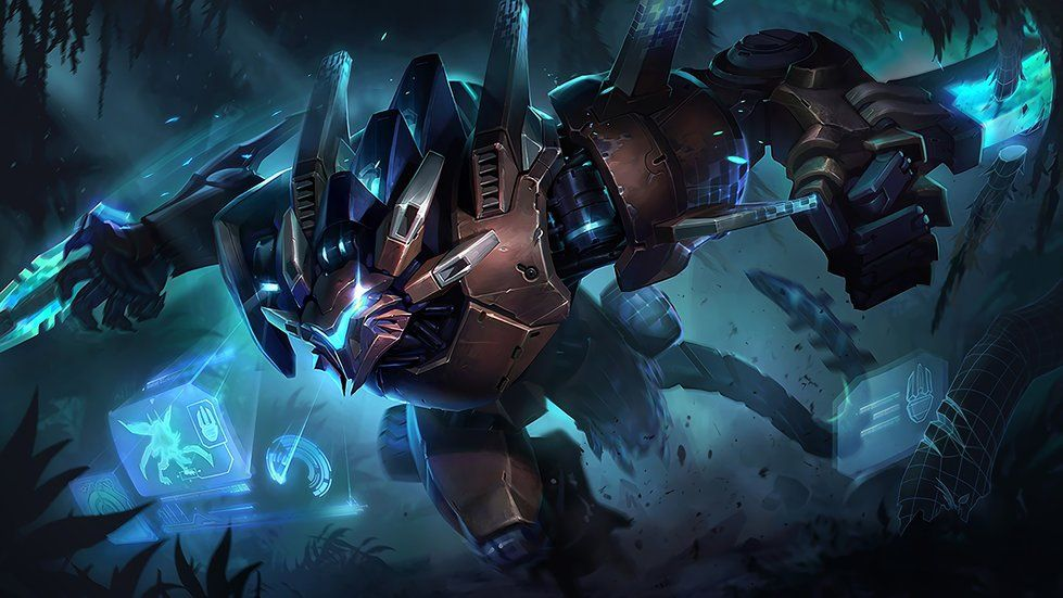 4k Mecha Rengar Splash Art League Of Legends Video Game 3840x2160