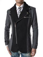 Dressier option mens asymmetrical black/grey