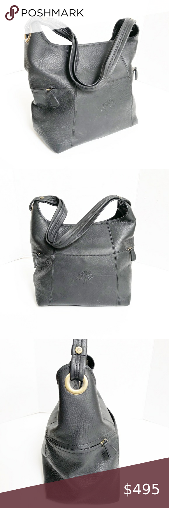 Mulberry Black Hobo Leather Bag Mulberry Black Hobo Leather Bag. In excellent used condition EUC. See photos for wear. Very clean inside lining. Minimal wear on the leather Mulberry Bags Hobos #mulberrybag