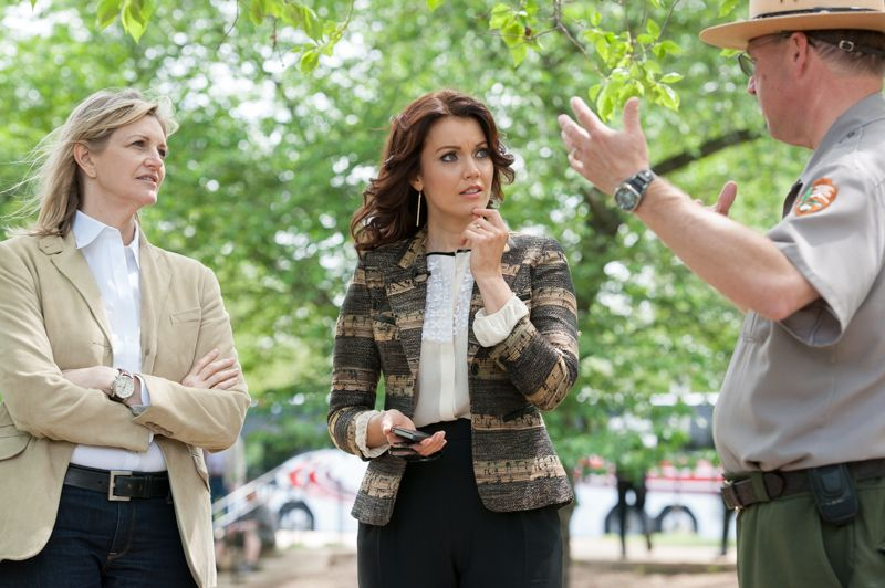 Bellamy Young and Trust for the National Mall Photo Tour