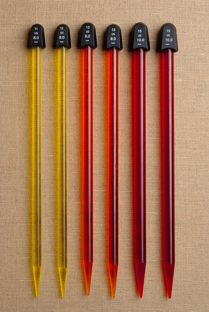 Peppermint & Plaid: Love these colorful needles from Susan Bates!