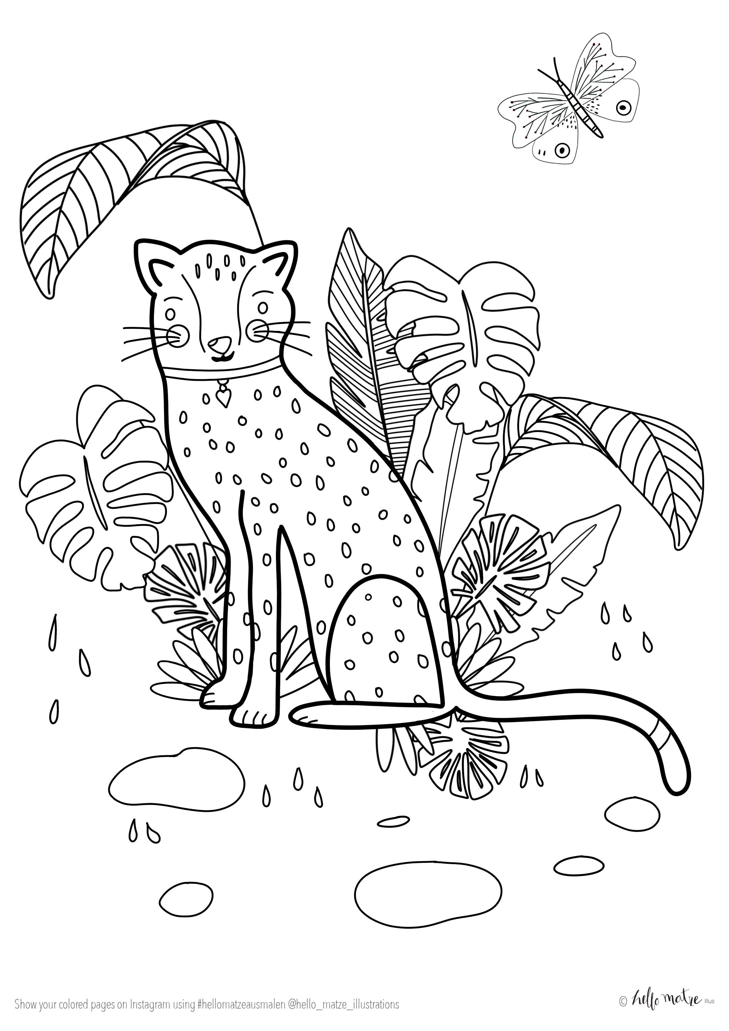 ausmalbild leopard kostenlos  best style news and inspiration