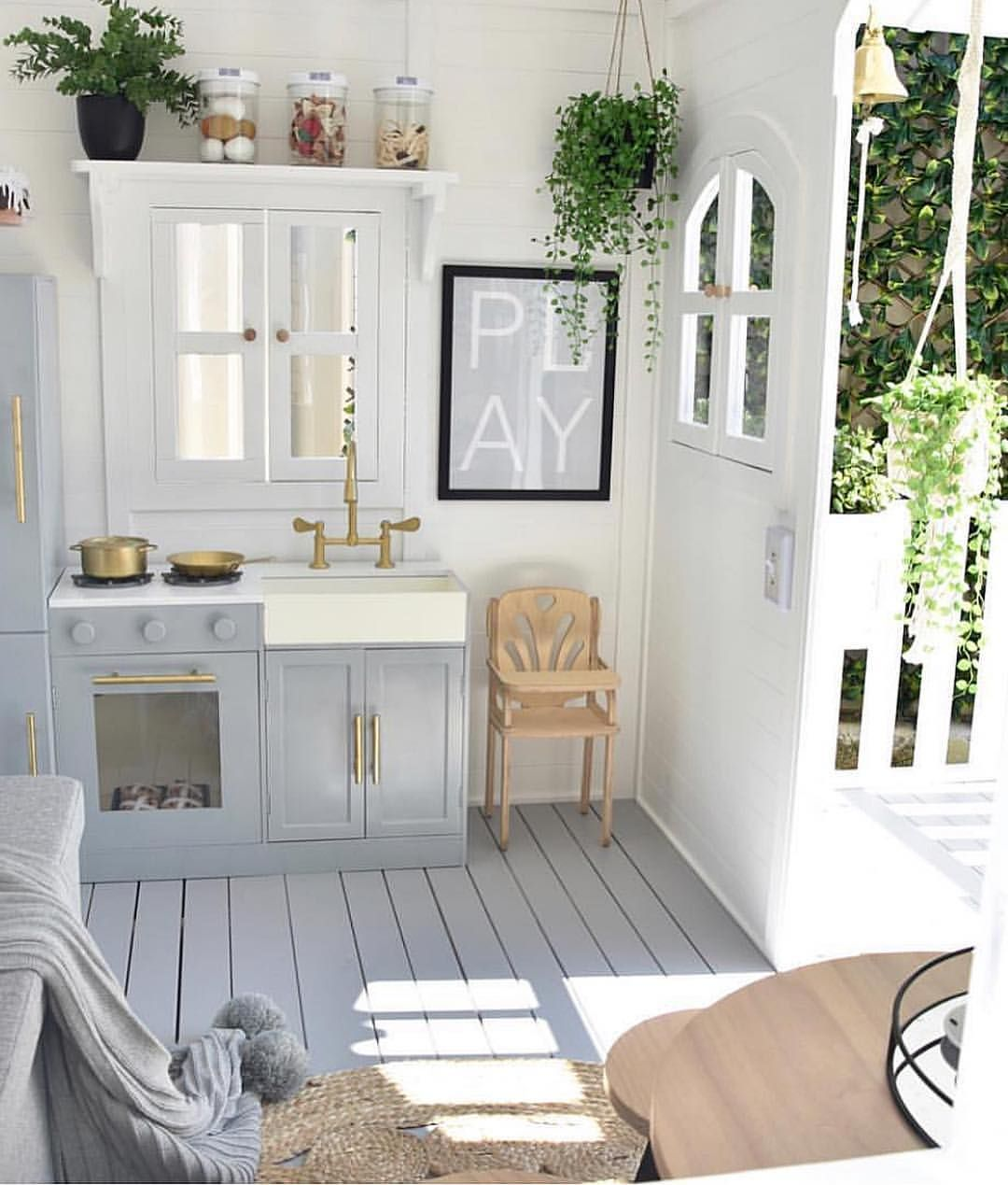How Adorable Is This Playhouse By Hudson And Harlow Via Decor For Kids Cubby Houses Play Houses Kids Cubby Houses
