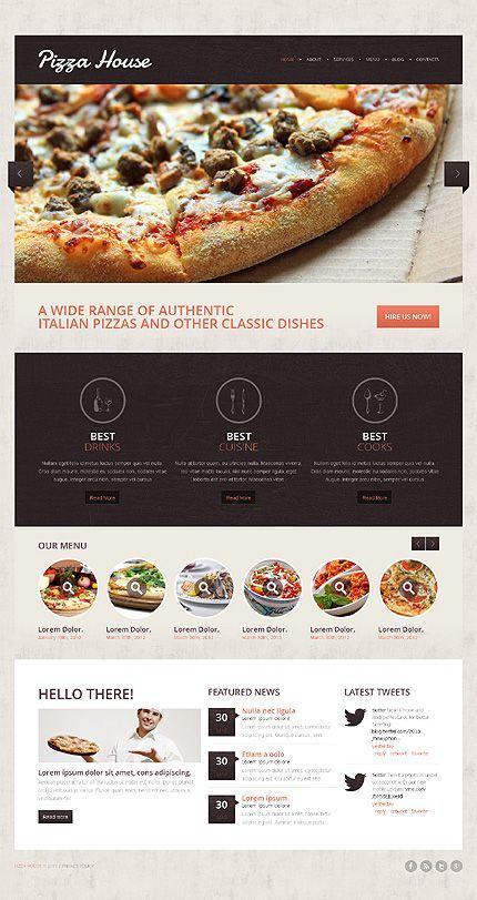 contrast pizza drupal template new website templates pinterest