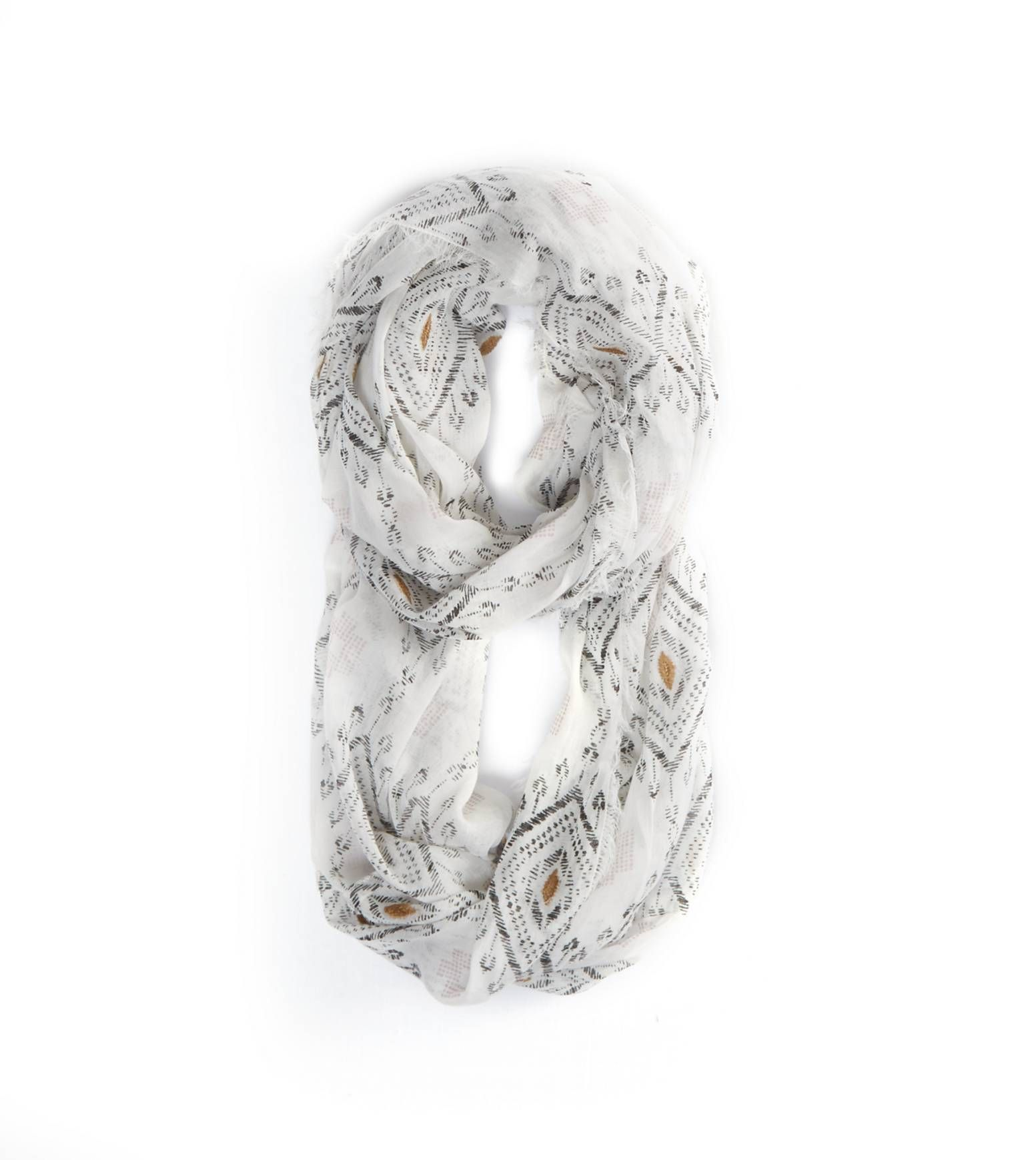American Eagle Embroidered Loop Scarf 82 Pln Liked On: American Eagle Embroidered Loop Scarf In Cream