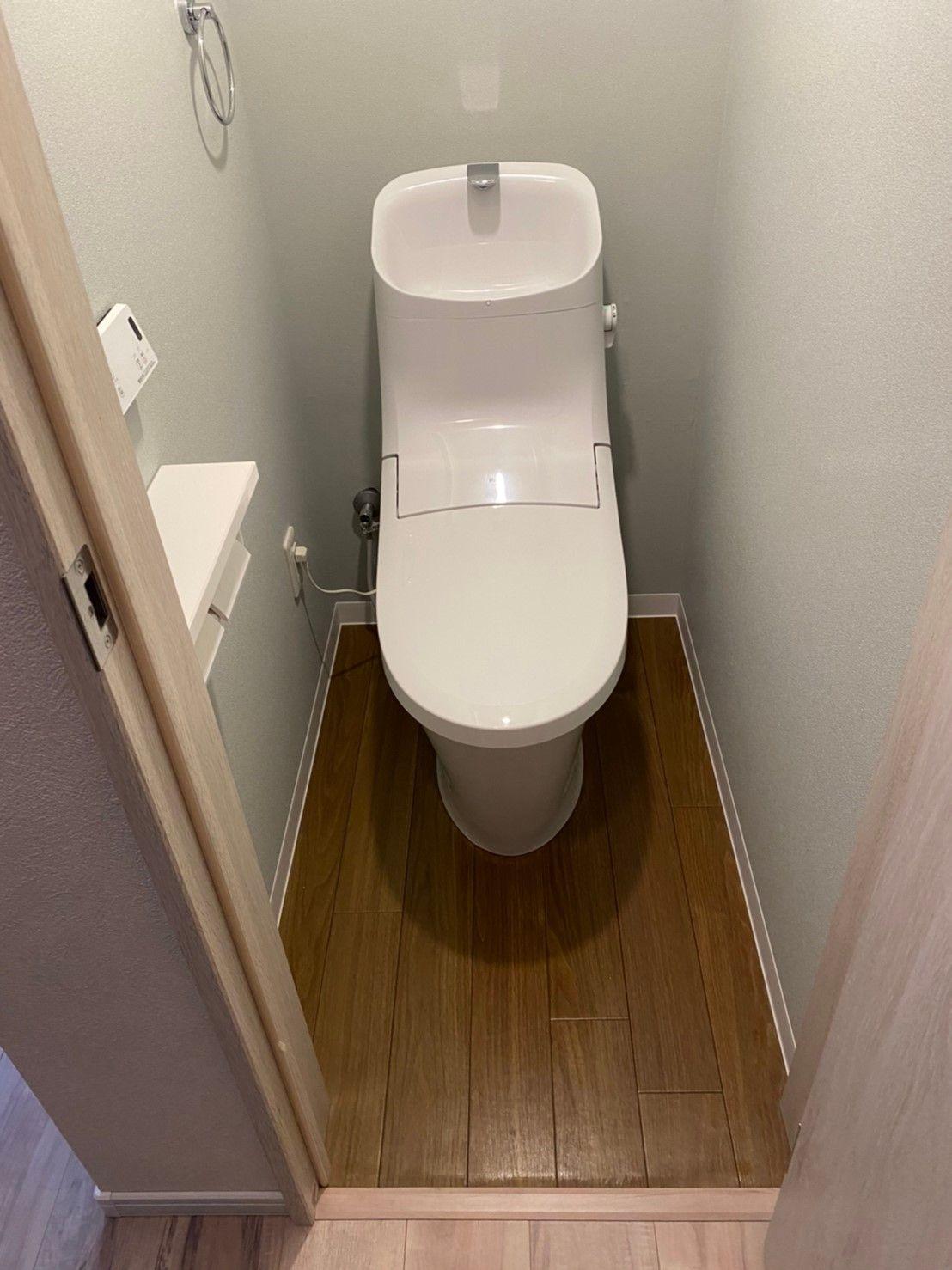 クロス シンコール グレー系 トイレ 2020 ベーシア リクシル リノベーション リフォーム