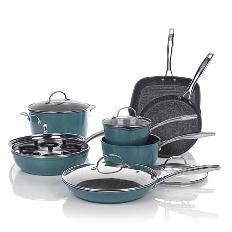 Curtis Stone Dura Pan Nonstick 13 Piece Forged Cookware Set With Recipes 7774862 Hsn Forged Cookware Cookware Set Nonstick Cookware