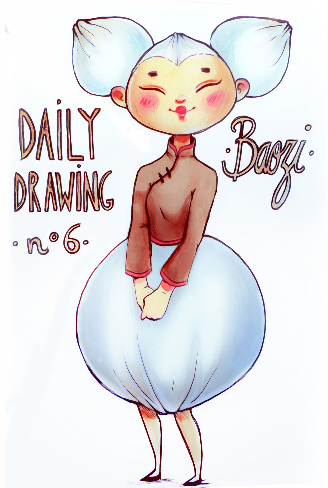Daily Drawing N6 BAOZI I Absolutely Wanted To Draw Something For The Chinese New Year So Here It Is A Little Bit Late Love Baozi