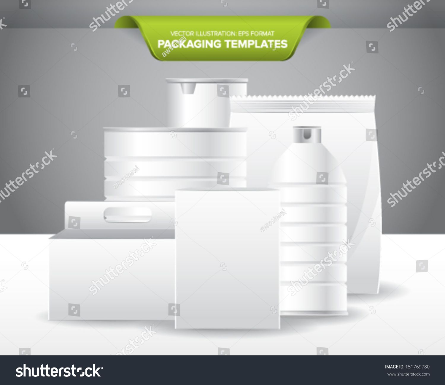 Set Empty Blank Packaging Templates Food Stock Vector Regarding Blank Packaging Templates Packaging Template Templates Professional Templates