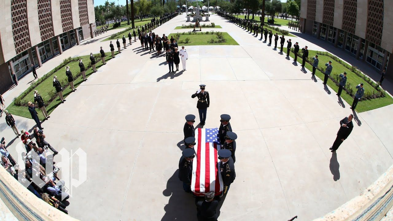 Arizona departure ceremony held in honor of McCain John