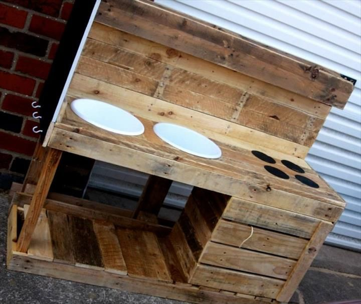 Diy Kitchen Cabinets Brisbane: DIY Pallet Mud Kitchen For Kids