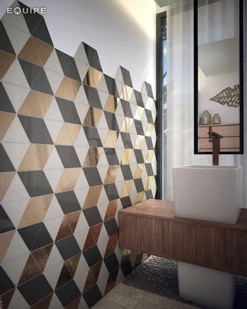 Triangolo Ceramic Bathroom Tile From Centura Tile Vancouver Bathroom Decor Pictures Contemporary Decor Bathroom Tile Inspiration