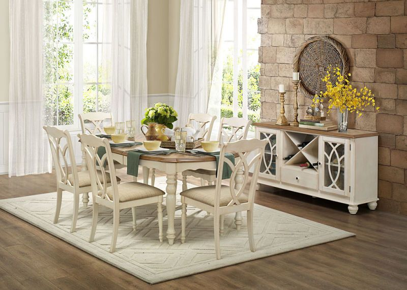 Antique White Dining Room Homelegance 5145W78 Azalea Dining Room Set In Antique White