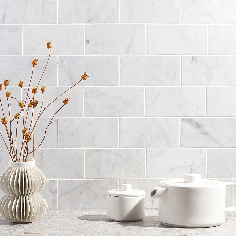 Carrara 3x6 polished marble tile marble subway tiles