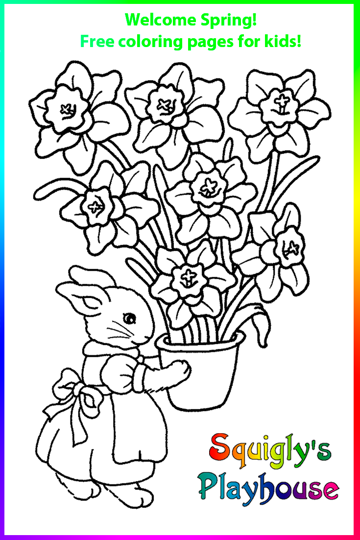 Spring Coloring Pages For Kids Coloring Pages For Kids Spring Coloring Pages Coloring Pages