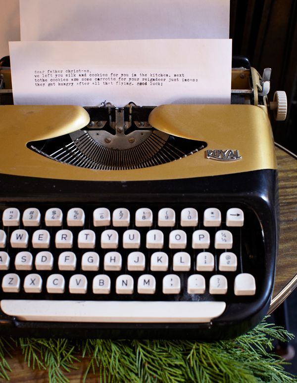 adorable typewriter letter to santa...emily henson...