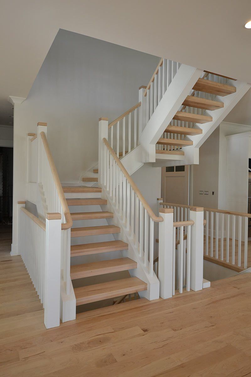 A Steel Framed, Free Floating Staircase At The Yarmuth Residence. (Courtesy