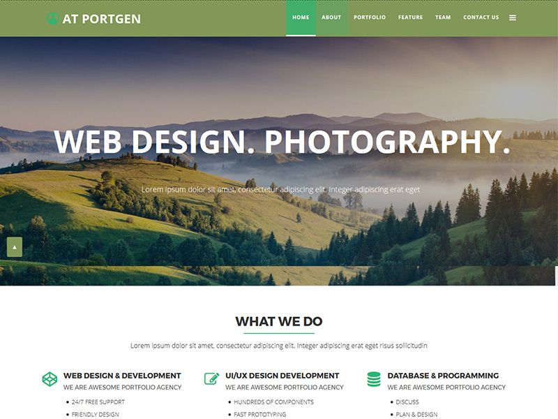 AT Portgen Onepageis single page version of AT PortgenJoomla! template. Portgen Onepage is the embodiment of a fresh, clean, minimalist Portfolio joomla template which can also be used as a multipurpose template. This is modern and exclusive joomla template suitable for agencies and freelancers or for all creative people and agencycreative business.