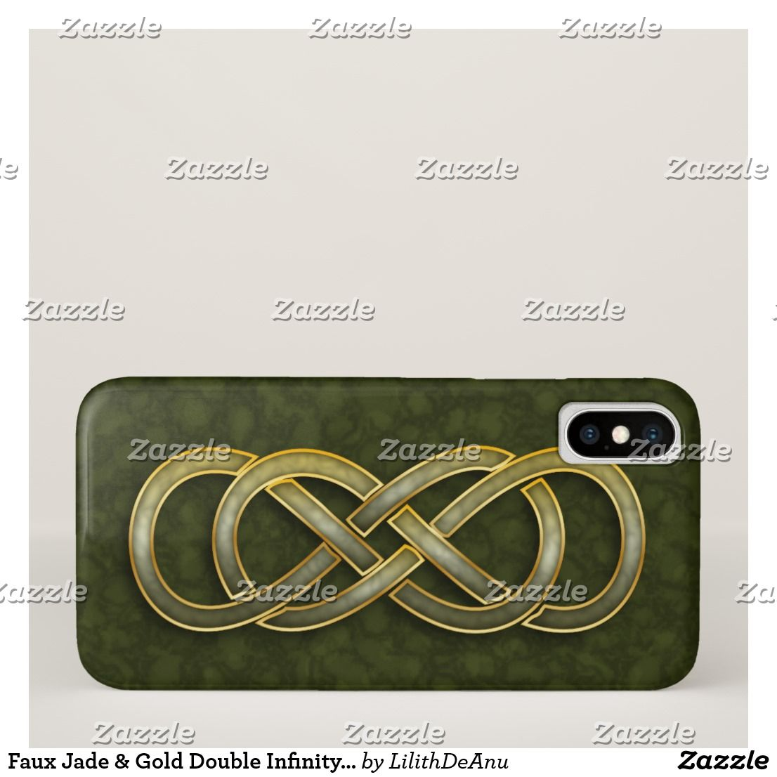 Jade gold double infinity symbol on green iphone x case faux jade gold double infinity symbol on green iphone x case biocorpaavc Choice Image
