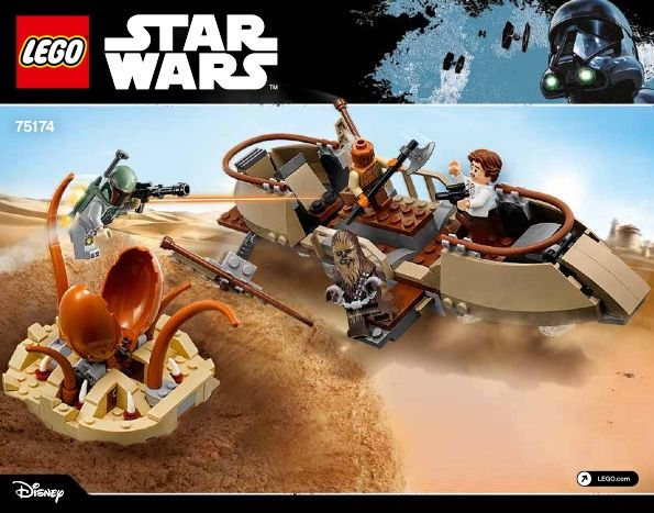 View Lego Instructions For Desert Skiff Escape Set Number 75174 To
