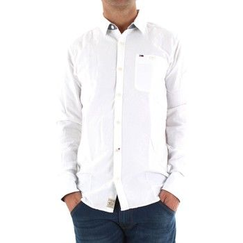 ba253b7343a53 Tommy Hilfiger Camisa manga larga Camisa Tommy Blanca Oxford Coderas para  hombre - YoElijoElPrecio.com