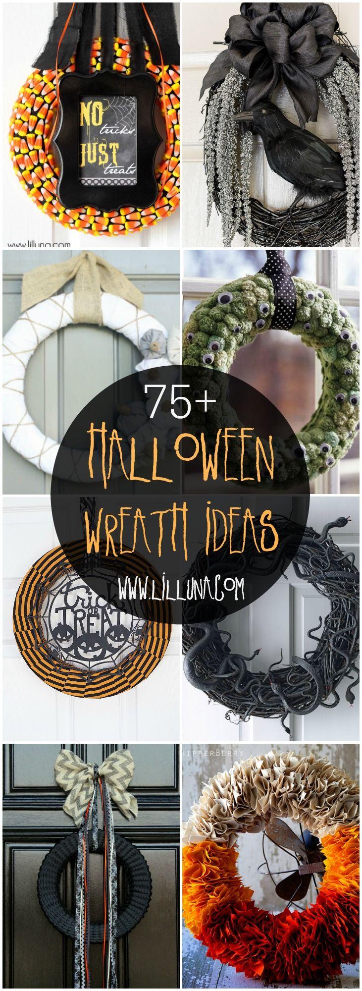 75+ Halloween Wreaths #halloweenwreaths
