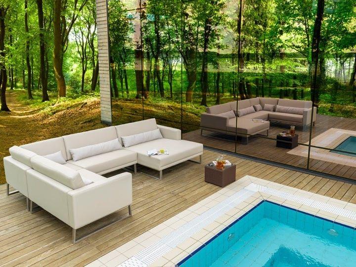 BARI Gartenmöbel Lounge Gartenset C 17-teilig Silvertex ...