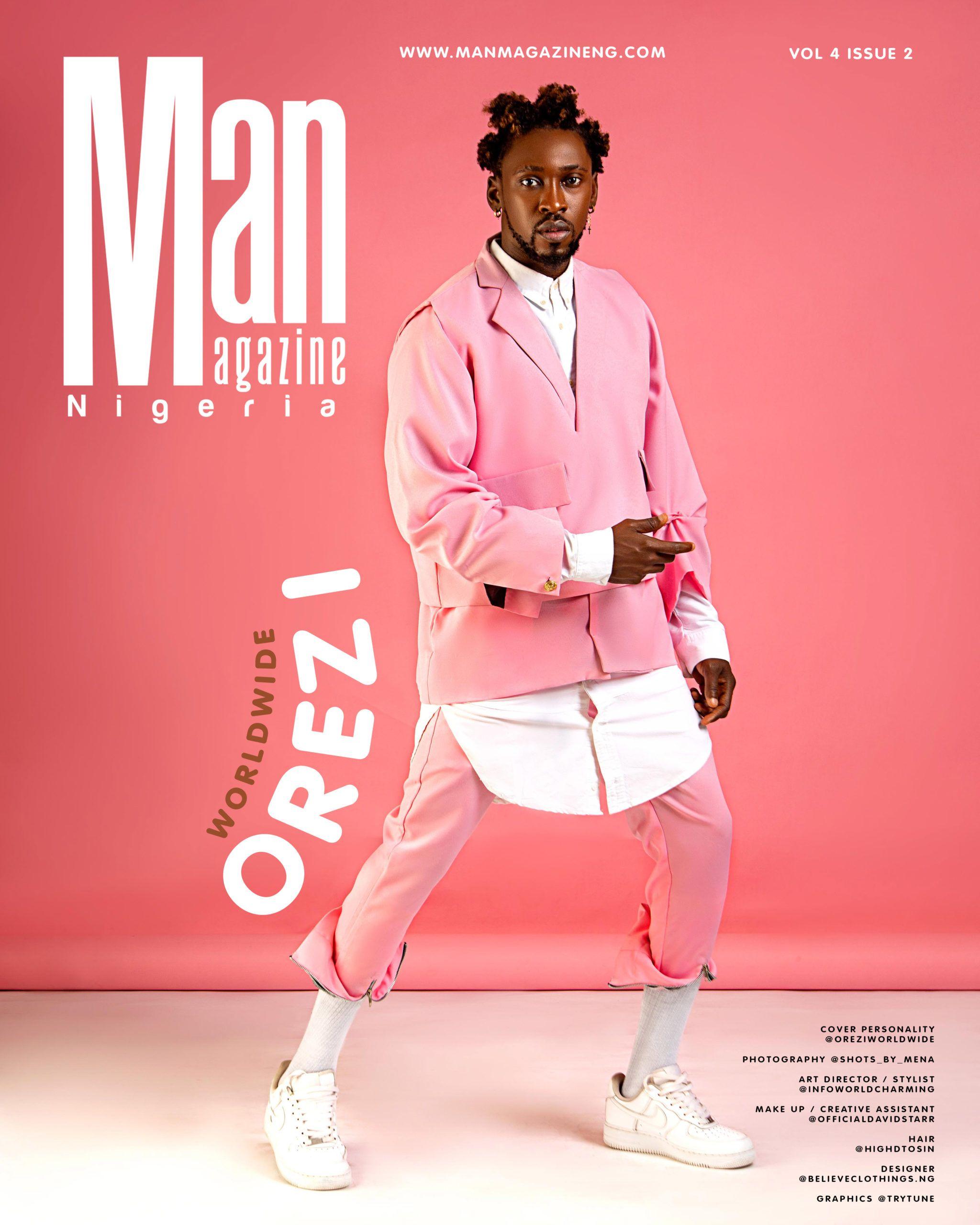 Orezi Shows Us The Modern Way To Rock Pink On Man Magazine