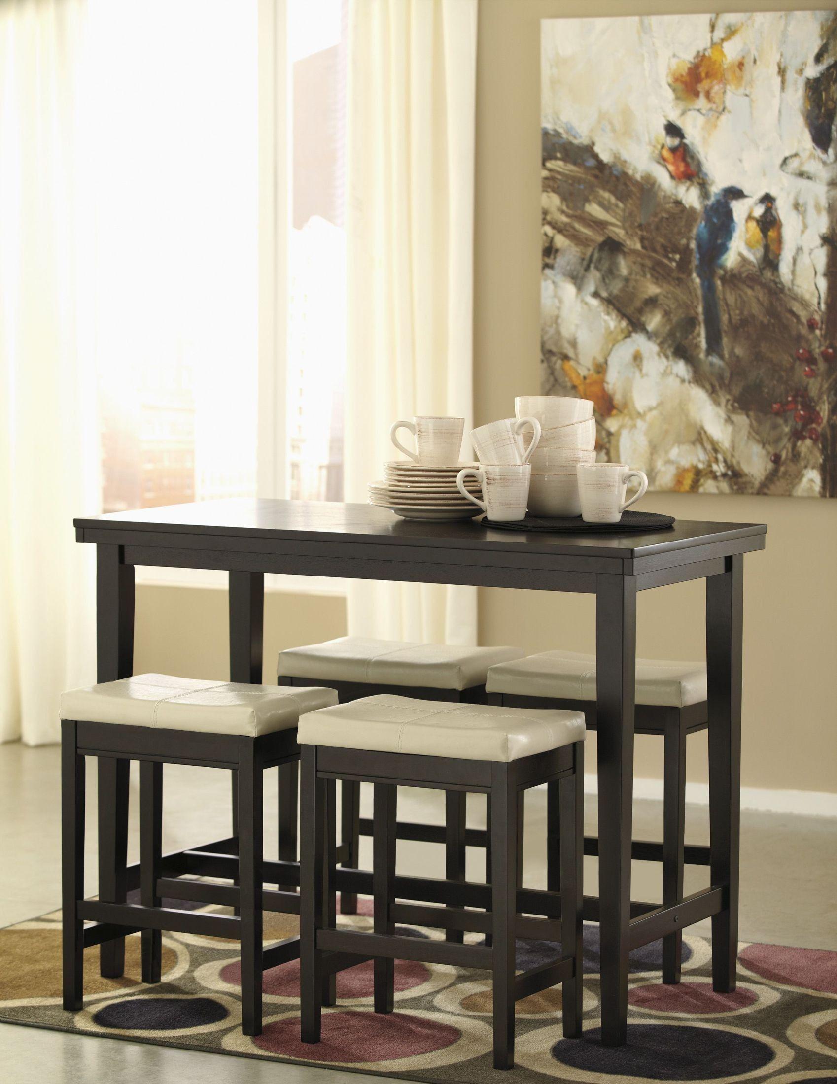 Kimonte Rectangular Dining Room Counter Height Dining Room Set